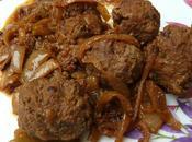 Boulettes viande oignons