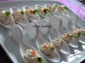 Cuillères saumon, cognac perles