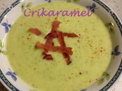 Crème courgettes l'Ossau-Iraty, piment d'Espelette croustillant bacon