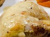 Poulet moutarde Maille Truffe Chablis, kaki rôti