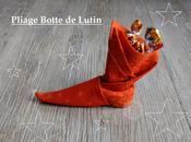 Pliage Serviette botte Lutin garnie chocolats