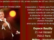 Trophée chanson dans 12ème ardt Paris