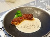 Velouté châtaignes fève tonka foie gras