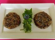 Steaks végétariens haricots noirs