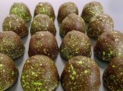 Chocolats fins ganache pistache