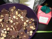 Fudges chocolat noir cacahuètes