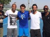 PHOTO JOUR. Dubaï: Federer, Anelka, Pires, Abidal Henry