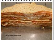 Gâteau crêpes saumon fumé