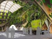Voyage vers futur: pavillons l'exposition universelle Milan