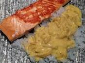 Pavés saumon épices gohan konjac