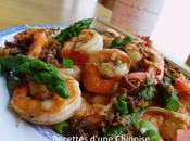 Crevettes sautées sauce XO酱虾球炒芦笋 jiàng xiāqiú chǎo lúsǔn