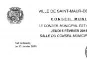 Conseil municipal jeudi février