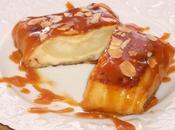 Crêpes crème d'amandes, poire sauce caramel beurre salé