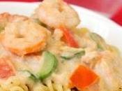 Pâtes courgettes crevettes