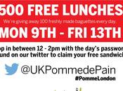 sandwichs gratuits Pomme Pain