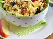 Salade chou vert, vinaigrette vinaigre framboise