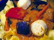 pâte alsacienne petits légumes chèvre.