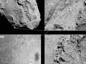 Rosetta photographie ombre surface comète Churyumov-Gerasimenko