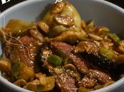 Asian Food Magret canard sauce thaï