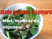 Recette Salade pousses d'épinards miel moutarde oignons grillés