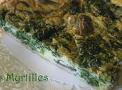 Tarte epinards champignons