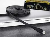 Offre privilège -60% câble plat Lightning pour iPhone, iPad iPod Touch