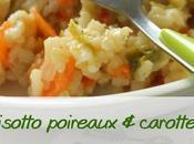 Risotto poireaux carottes, sans gluten, lait
