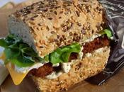 Sandwich bâtonnets poisson pané sauce tartare (Vegan)