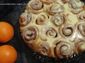 Roulés cannelle l'orange orange cinnamon rolls espirales canela naranja