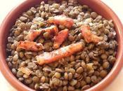 Salade lentilles vertes tiède lard