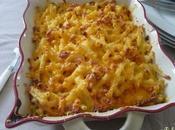 Gratins macaronis cheddar