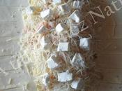Feuilleté pommes terre petites crevettes kiri