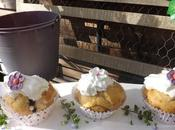 Petits muffins Paques citron creme chantilly