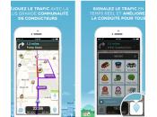 Waze rapidité améliorée nouvelle barre circulation iPhone
