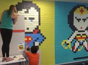 aura fallu peine post-it, pour redécorer murs bureau mode super-héros