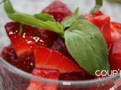 Salade fraises basilic poivre pimenté