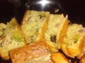 Cake avocat, wasabi jambon