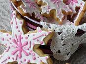 Sablés Noël décorés...(flocons roses)