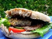 Burgers Steack, Portobellos Marinés Grillés Crudités