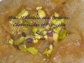 Mini m'hancha pommes caramelisees pistaches