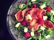 [Recette] Salade figues, framboises proscuitto