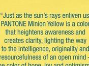 Pantone lance couleur officielle Jaune Minions