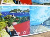Faire-part carte postale iles plages nord