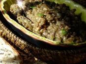 Caviar d'aubergine champignons