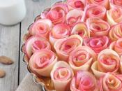 Tarte bouquet roses pomme cannelle Boisson Epeautre Amande