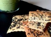 Crackers Sésame Noir Guacamole d'avocat