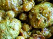 Curry léger boulettes poulet pois chiche Chickpea chicken meatball curry
