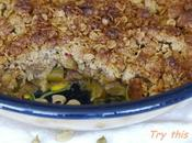 Crumble rhubarbe, épeautre cardamome