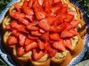 Gâteau Fraises Curd Citron Menthe