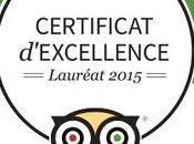 Ghana Ezile Certificat d'excellence 2015 Tripadvisor